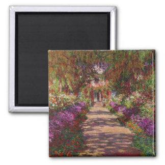 Claude Monet | A Pathway in Monet's Garden Magnet