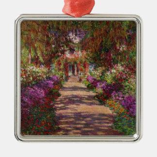 Claude Monet | A Pathway in Monet's Garden Metal Ornament