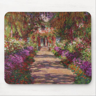 Claude Monet | A Pathway in Monet's Garden Mouse Pad