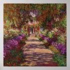 Claude Monet   A Pathway in Monet's Garden Poster