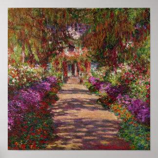 Claude Monet | A Pathway in Monet's Garden Poster