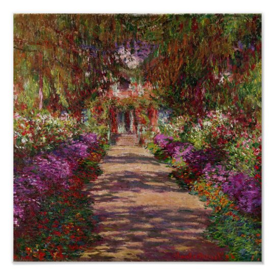 Claude Monet | A Pathway in Monet's Garden Poster