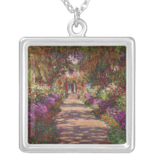 Claude Monet | A Pathway in Monet's Garden Silver Plated Necklace