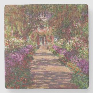Claude Monet | A Pathway in Monet's Garden Stone Coaster
