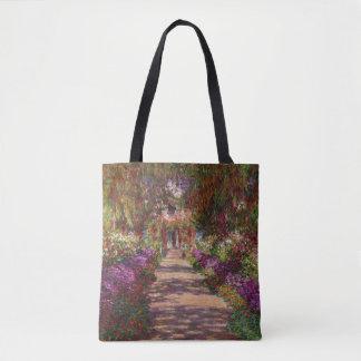 Claude Monet | A Pathway in Monet's Garden Tote Bag