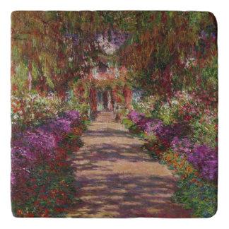 Claude Monet | A Pathway in Monet's Garden Trivet