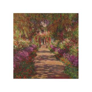 Claude Monet | A Pathway in Monet's Garden Wood Wall Art