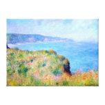 Claude Monet: Acantilado cerca de Pourville Impresiones En Lienzo Estiradas