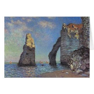 Claude Monet - acantilados en Etretat Tarjetón