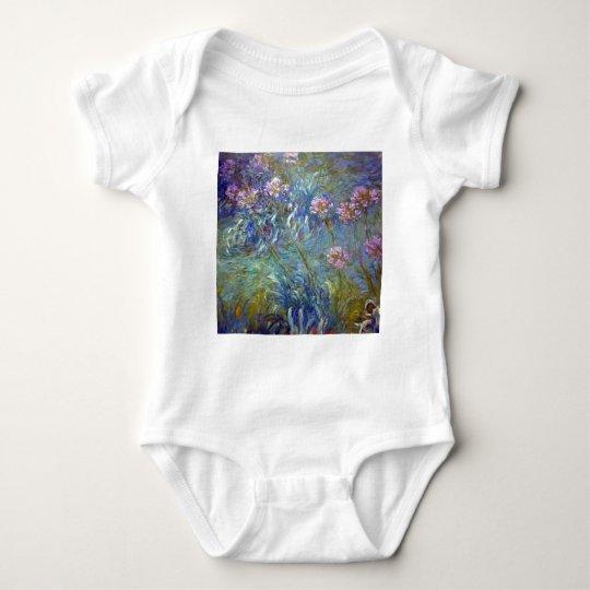 Claude Monet Agapanthus Baby Bodysuit