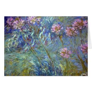 Claude Monet Agapanthus Greeting Card