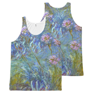 Claude Monet Agapanthus Fine Art Floral GalleryHD All-Over Print Tank Top