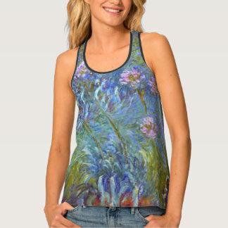 Claude Monet Agapanthus Fine Art Floral GalleryHD Tank Top