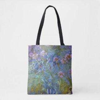 Claude Monet Agapanthus Fine Art Floral GalleryHD Tote Bag