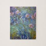 """Claude Monet Agapanthus Jigsaw Puzzle<br><div class=""""desc"""">Claude Monet Agapanthus</div>"""