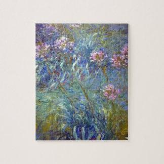 Claude Monet Agapanthus Jigsaw Puzzle