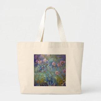 Claude Monet Agapanthus Large Tote Bag