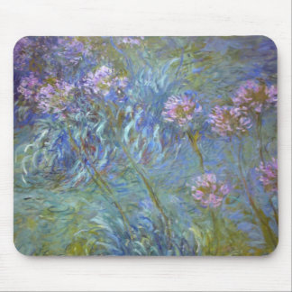 Claude Monet Agapanthus Mouse Pad