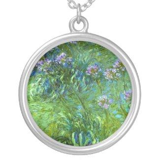 Claude Monet: Agapanthus zazzle_necklace