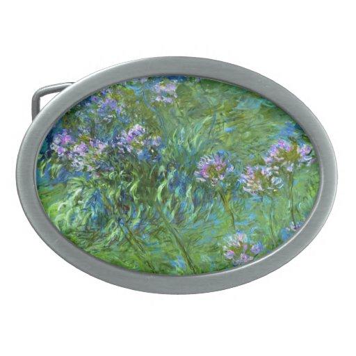 Claude Monet: Agapanthus Oval Belt Buckles