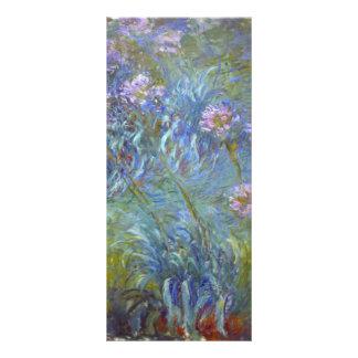 Claude Monet Agapanthus Full Color Rack Card