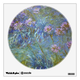 Claude Monet Agapanthus Wall Decal