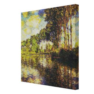Claude Monet - álamos en el Epte Impresion De Lienzo