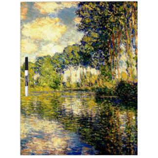 Claude Monet - álamos en el Epte Tablero Blanco