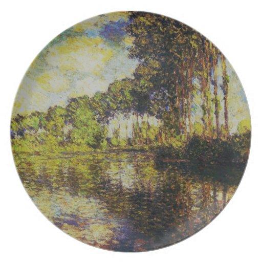 Claude Monet - álamos en el Epte Platos De Comidas