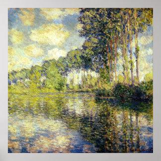 Claude Monet - álamos en el Epte Póster
