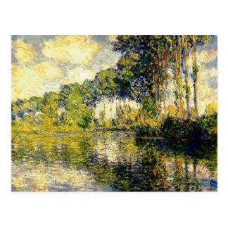 Claude Monet - álamos en el Epte Tarjetas Postales