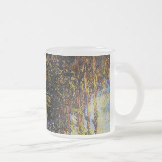 Claude Monet - álamos en el Epte Taza Cristal Mate