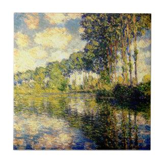 Claude Monet - álamos en el Epte Tejas Ceramicas
