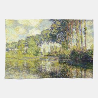 Claude Monet - álamos en el Epte Toallas De Cocina