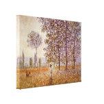 Claude Monet - álamos en luz del sol Impresiones En Lienzo Estiradas