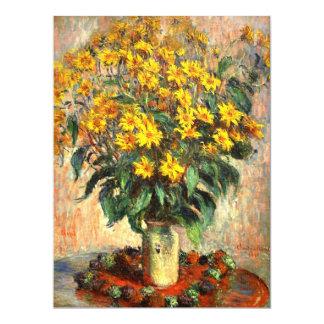 """Claude Monet: Alcachofas de Jerusalén Invitación 6.5"""" X 8.75"""""""