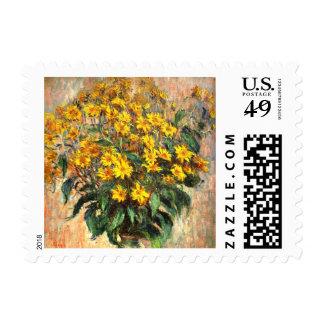 Claude Monet: Alcachofas de Jerusalén Sellos Postales