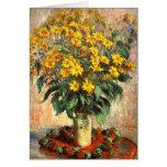 Claude Monet: Alcachofas de Jerusalén Tarjeton