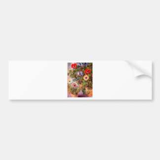 Claude Monet Anemonen Etiqueta De Parachoque