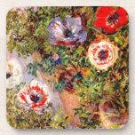Claude Monet  Anemonen Coasters