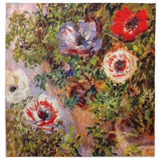 Claude Monet Anemonen Servilleta Imprimida