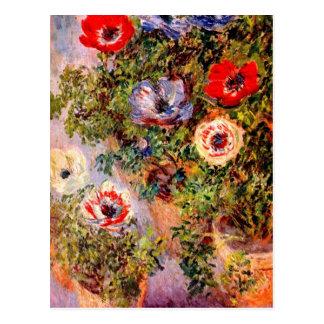 Claude Monet Anemonen Postal