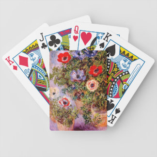 Claude Monet: Anemones Bicycle Playing Cards