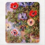 Claude Monet: Anemones Mouse Pad