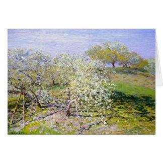 Claude Monet Apple Tree Greeting Card