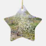 Claude Monet Apple Tree Christmas Tree Ornaments