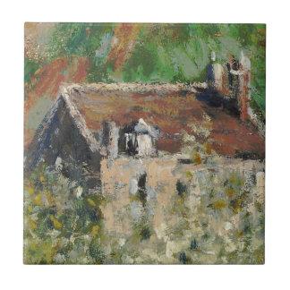 Claude Monet - árboles de ciruelo florecientes Tejas