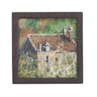 Claude Monet - árboles de ciruelo florecientes Caja De Recuerdo De Calidad