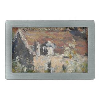 Claude Monet - árboles de ciruelo florecientes Hebillas De Cinturón