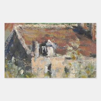 Claude Monet - árboles de ciruelo florecientes Pegatina